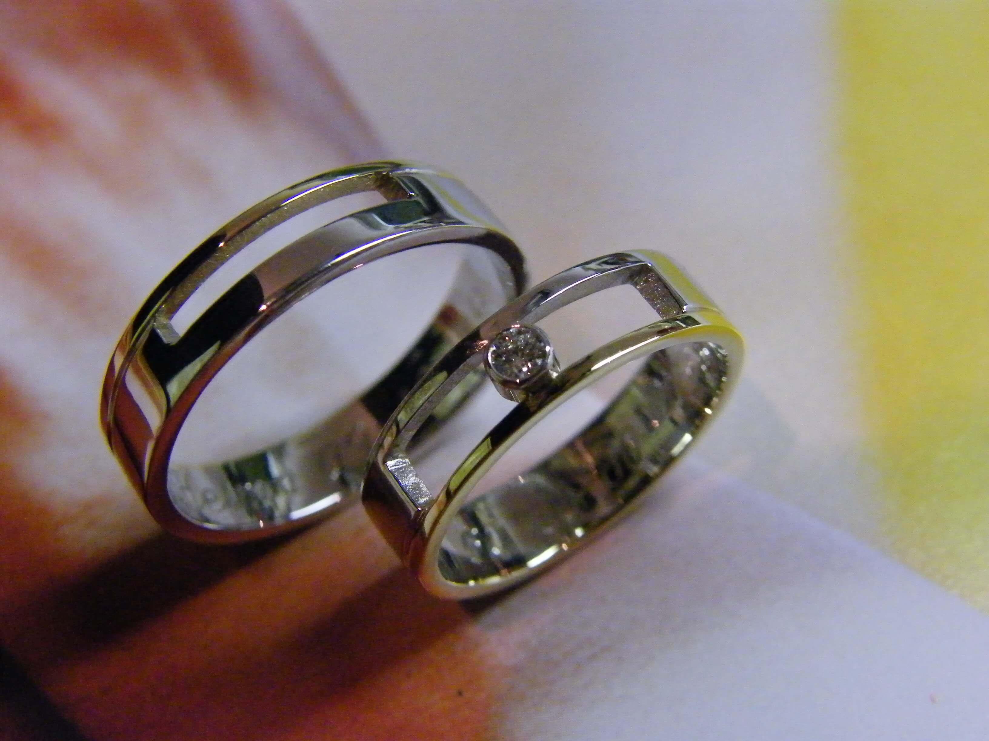 Trouwringen diamant