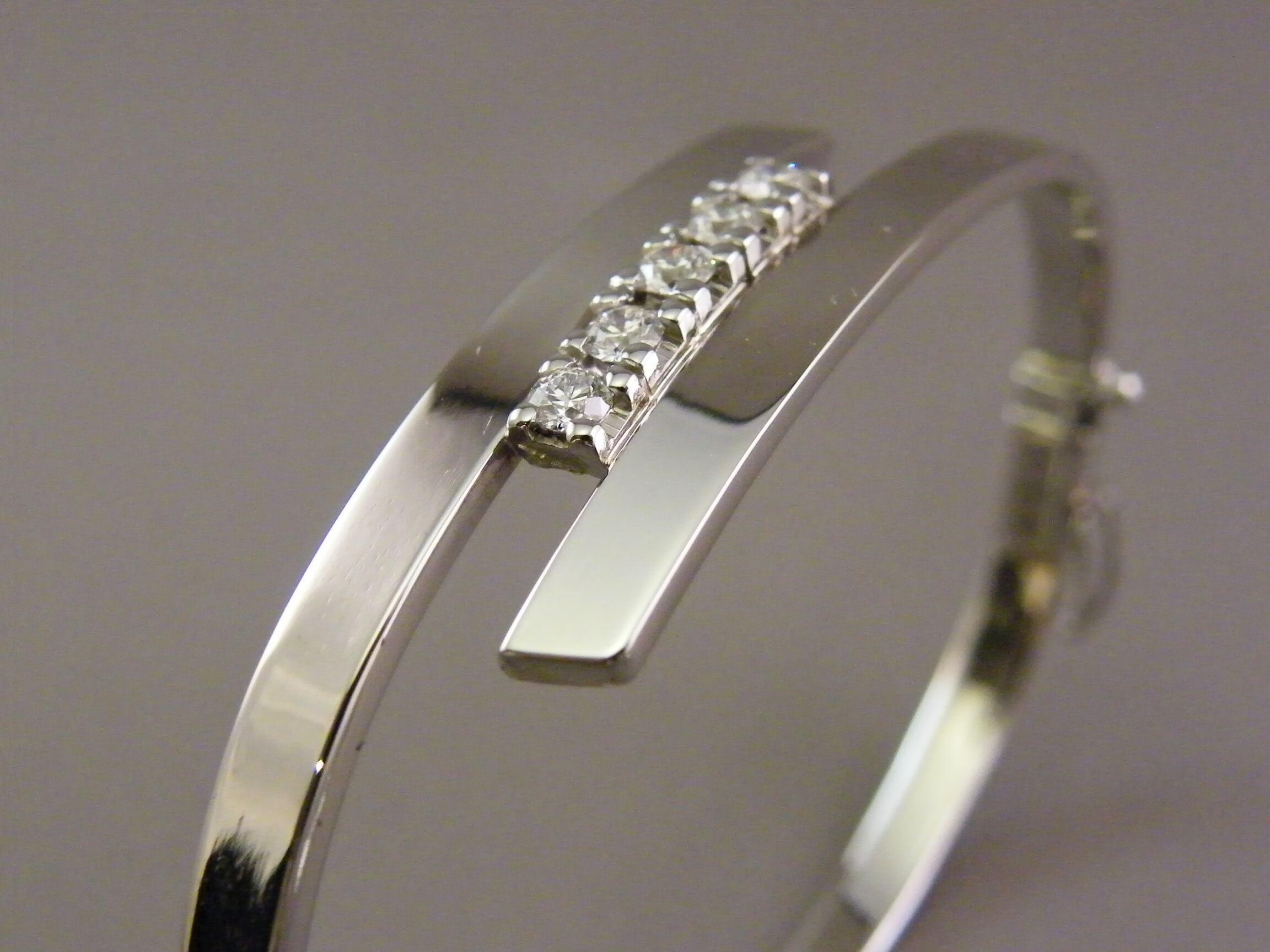 witgouden armband